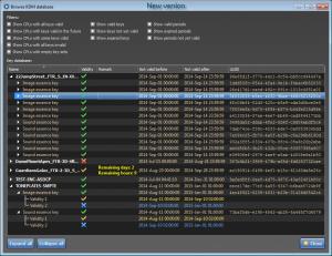 Browse KDM database - new version